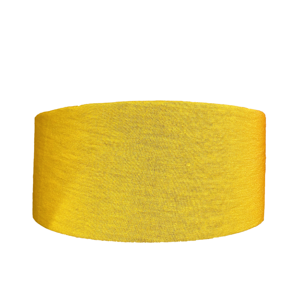 Solid Mustard Recycled Tube Turban