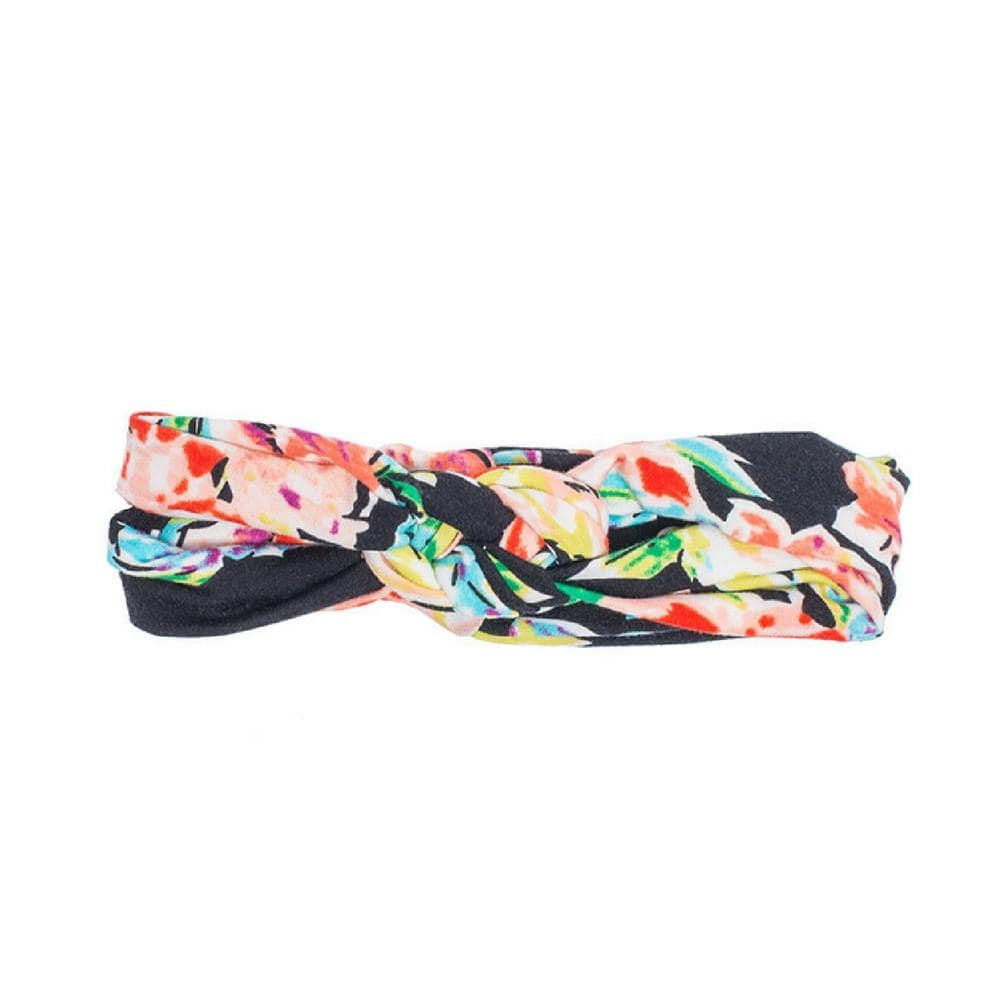 Black Floral Infinity Turban - Headbands of Hope
