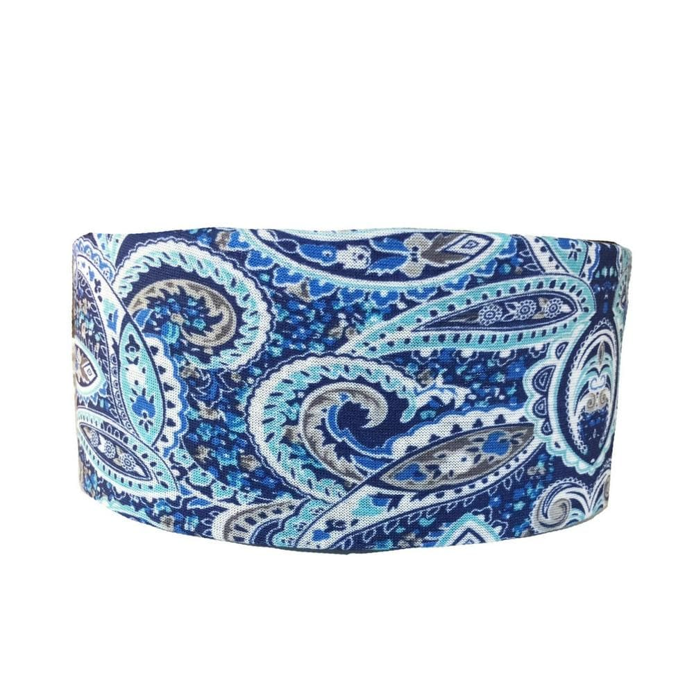 Blue Paisley Tube Turban - Headbands of Hope