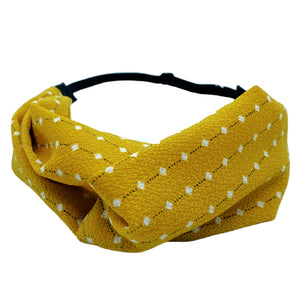 Rustic Yellow Adjustable Twist Turban