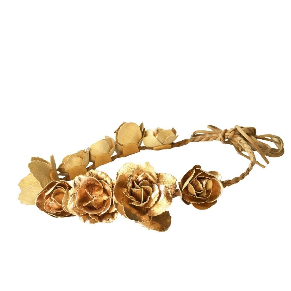 Gold Flower Crown - Headbands of Hope