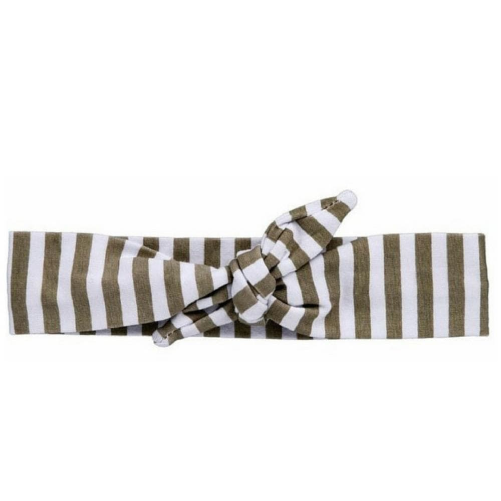 Grey Striped Knotted - Headbands of Hope