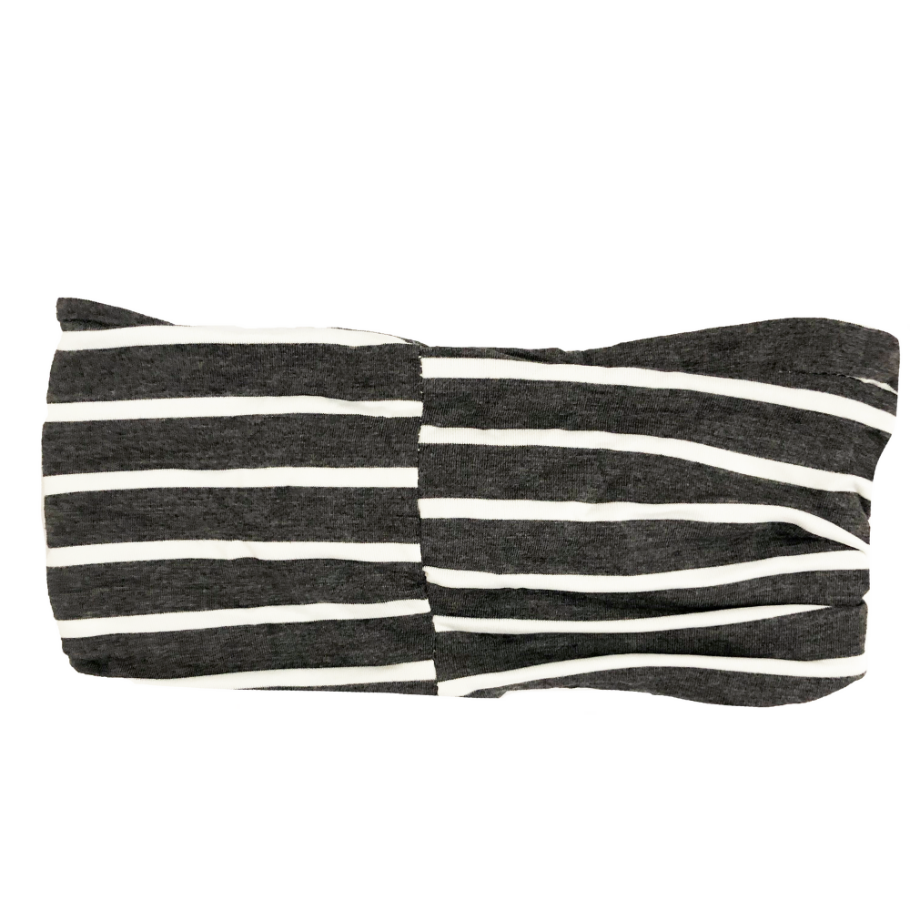 Grey Striped Twist Turban
