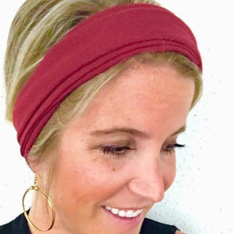 Burgundy Tube Turban - Headbands of Hope