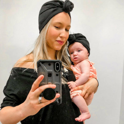 Onyx Baby Turban - Headbands of Hope