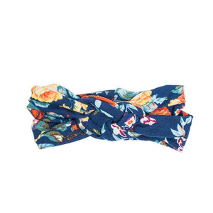 Orange Navy Infinity Turban - Headbands of Hope