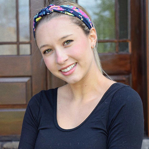 Pink Navy Infinity Turban - Headbands of Hope