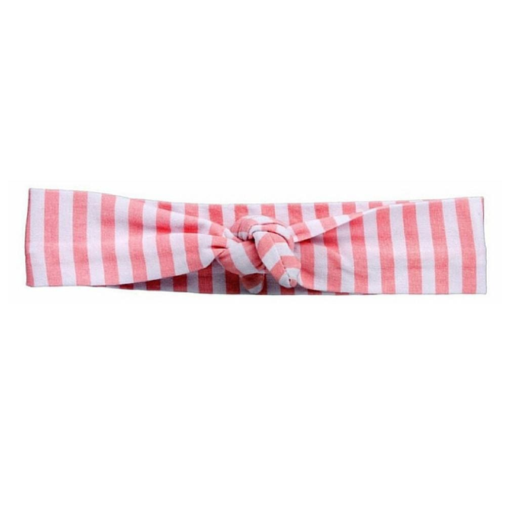Pink Striped Knotted - Headbands of Hope