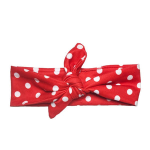 Red Polka Knotted - Headbands of Hope