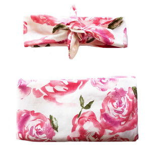 Rose Swaddle + Headband Set - Headbands of Hope