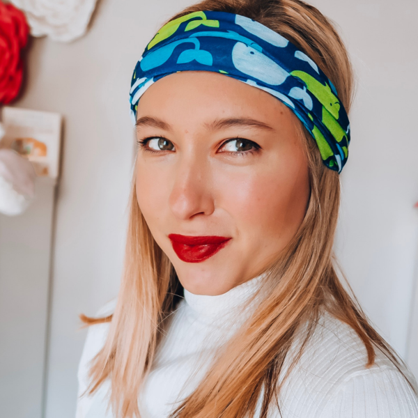 Whale Tail Tube Turban - Headbands of Hope