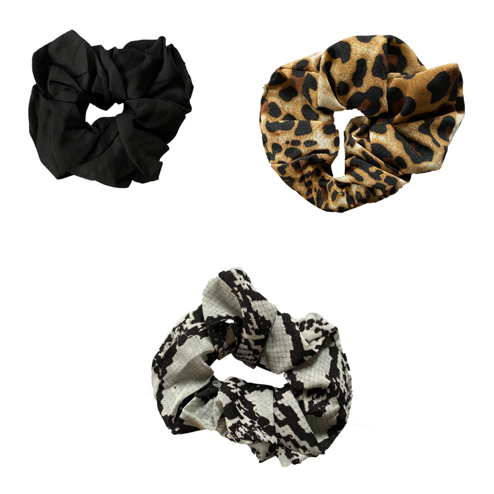 Animal Print Scrunchie Set