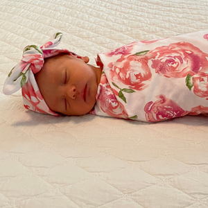 Rose Swaddle + Headband Set
