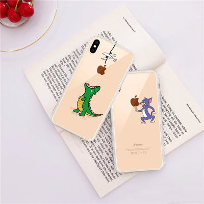 Transparent Soft TPU Phone Case For iPhone