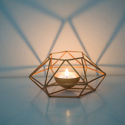 Geometric Iron Candlestick Wall Candle Holder Home decor Gift - Daly Shop