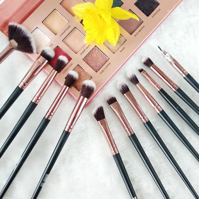 Make Up Brushes 3-12 PCS Professional Blending Eyeshadow Eyebrow Brush - Daly Shop