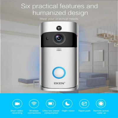 Smart Wireless WiFi  Video Doorbell Recording Night Vision Intercom - Daly Shop