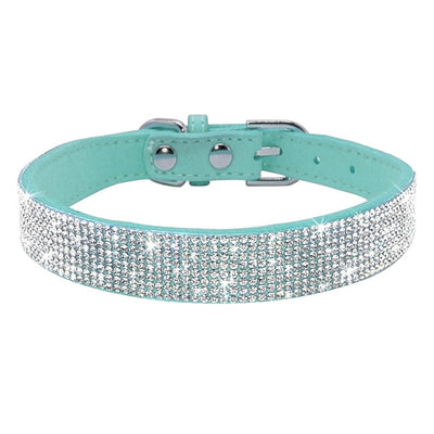 Bling Rhinestone Puppy Cat Collars For Small Medium Dogs Cats Chihuahua - Daly Shop