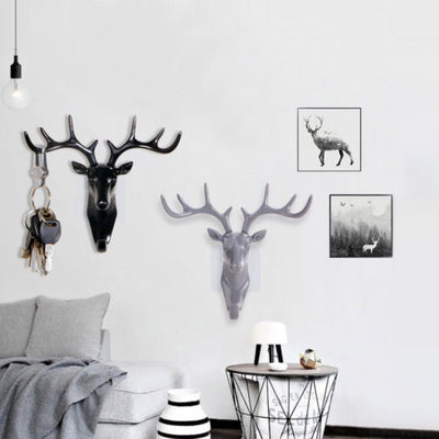 Creative American hook deer head modeling wall decoration hanger for key hooks - Daly Shop