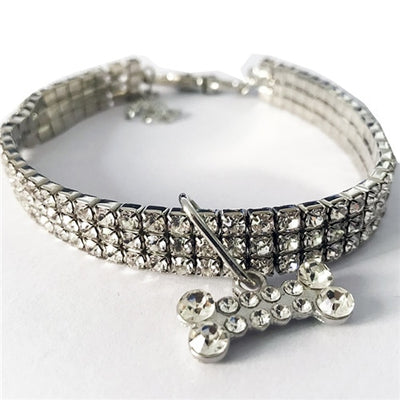 Bling Crystal Dog Collar Diamonde Necklace - Daly Shop