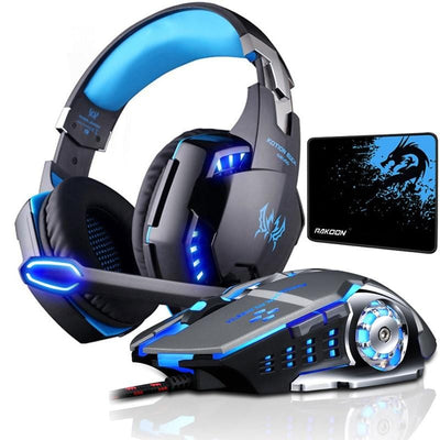 Gaming Headset Bundle with Gaming Mouse+Mice Pad for PC PS4 Laptop - Daly Shop