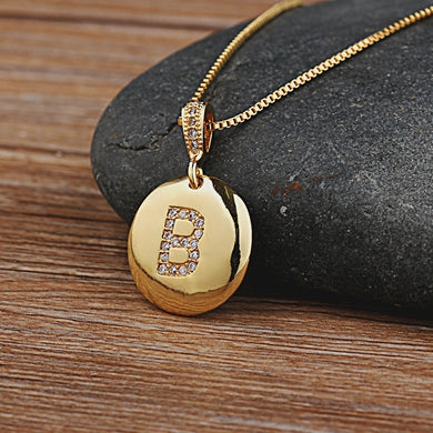 Personalized Initial Letter Necklace Gold 26 Letters Charm Necklaces Pendants Personalized Necklace - Daly Shop