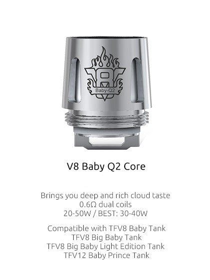 Smok TFV8 Baby Beast Coils - Great Price, Quick Shipping, No Hassle - USA - Wholesome Vapor