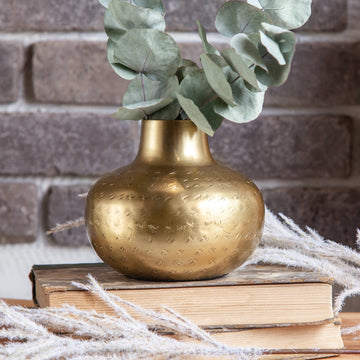 Antiqued Brass Vase