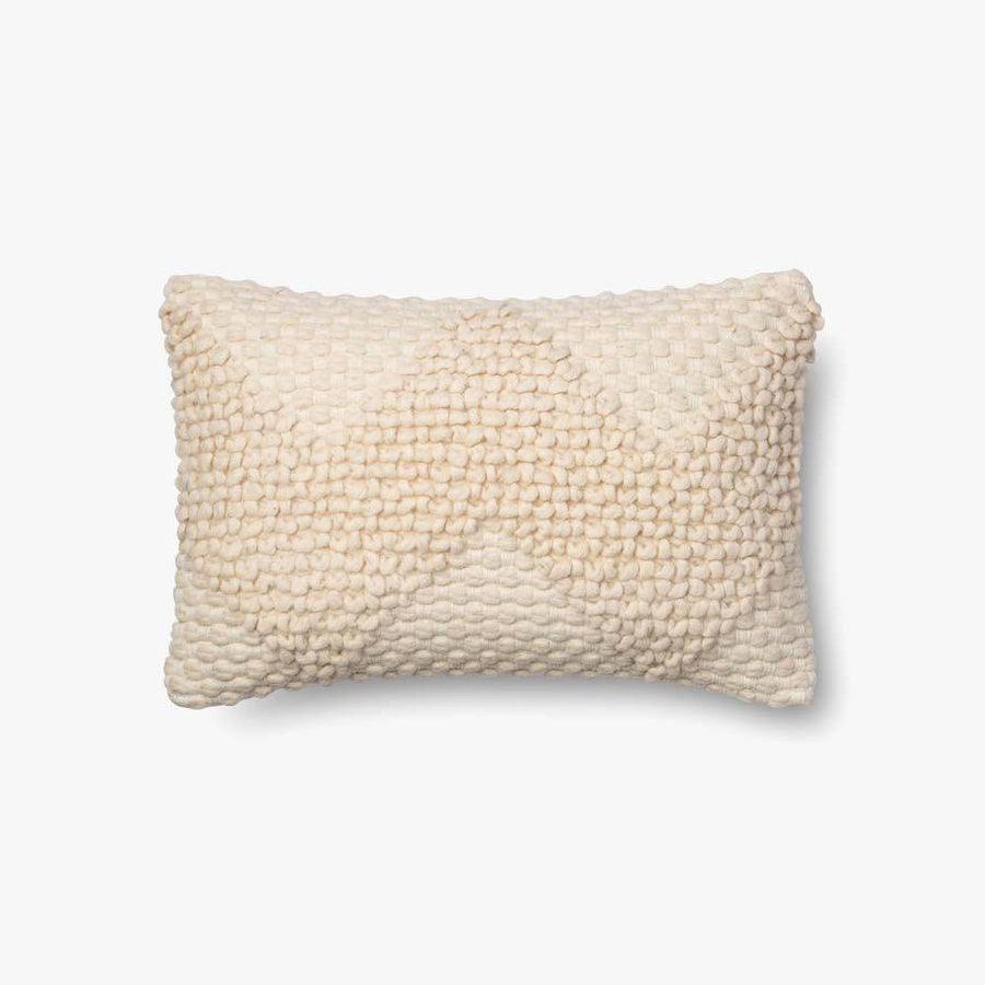 Wool Ivory Lumbar Pillow Cover