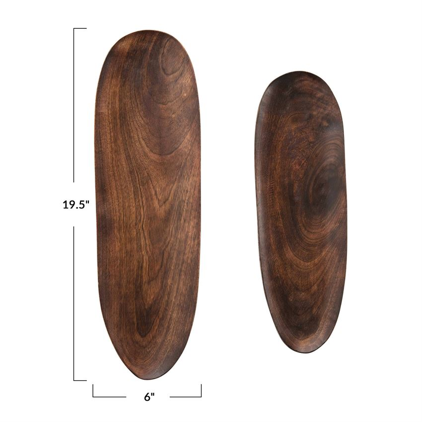 Mango Oval Wood Tray