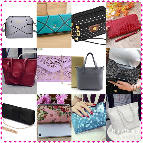 Women's Purses, Clutches and Hand Bags