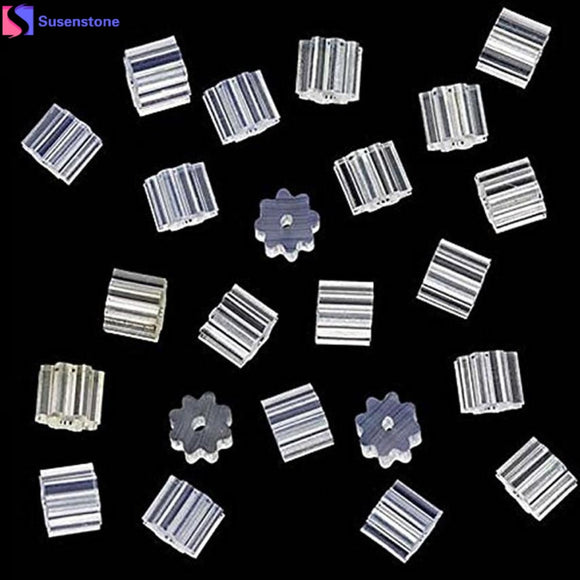 SUSENSTONE 100 Piece Clear Clutch Earring Safety Backs For Fish Hook Earrings
