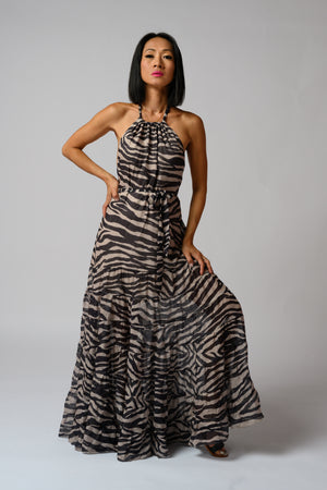 Margret Maxi Dress #Zebra