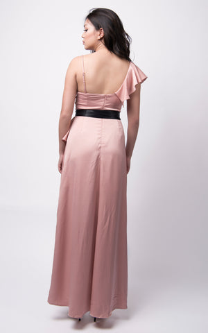 Jojo Hi-Lo Dress #Nude Pink