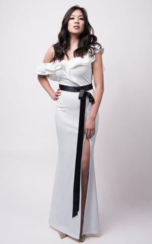 Nancy Maxi Dress #White