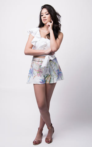 TANYA CROP TOP #White