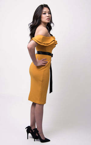 Nisha Bodycon Dress #Yellow