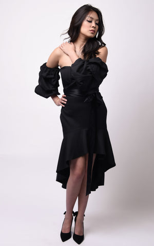 Michelle Hi-Lo Dress #Black