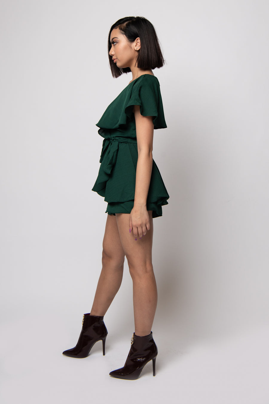 Amy Romper #Hunter Green