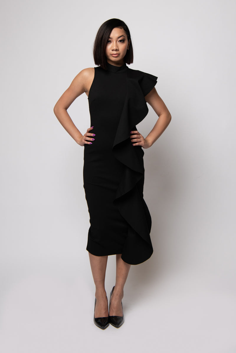 Janet Midi Dress #Black