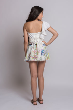 May Prints Shorts #White