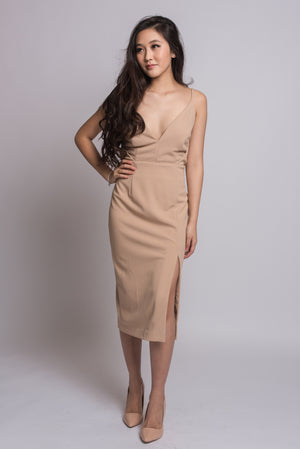 Makayla Dress #Nude