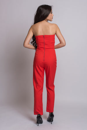 Veronica Jumpsuit #Red