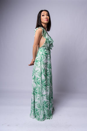 Melanie Maxi Dress #Green