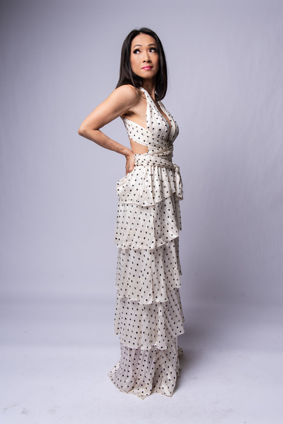 Miranda Maxi Dress #Polka Dot