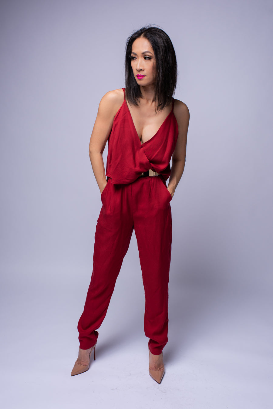 Pia Jumpsuit #Red