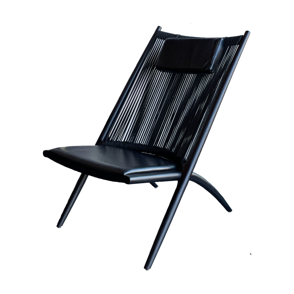 Armless Rope Back Lounge Chair
