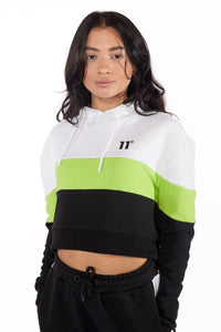 CROPPED PANEL PULLOVER HOODIE