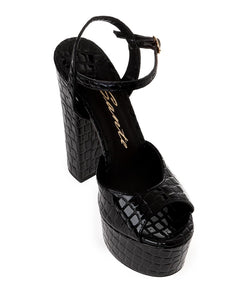 CROCO LEATHER SANDALS