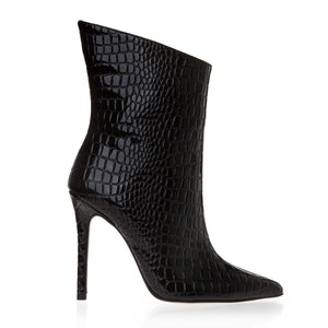 CROCO LOOK ANKLE BOOTS